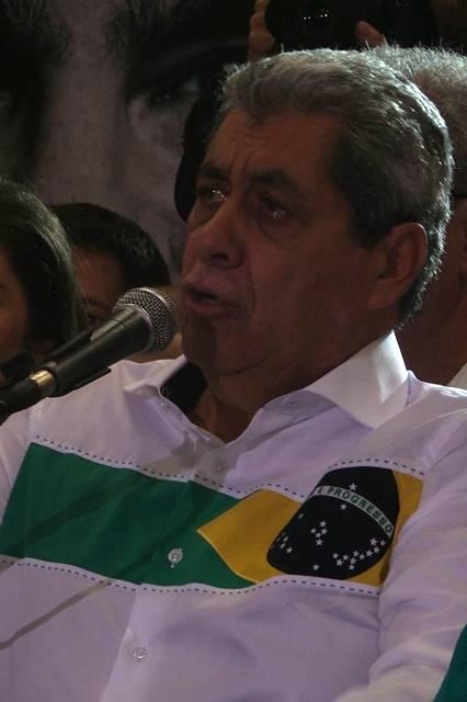 Governador André Puccinelli durante convenção estadual do PMDB<br />Foto: Heloísa Lazarini