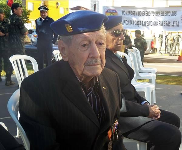 Moacir Aleixo, Ex-soldado da FEB<br />Foto: Junior Cordeiros