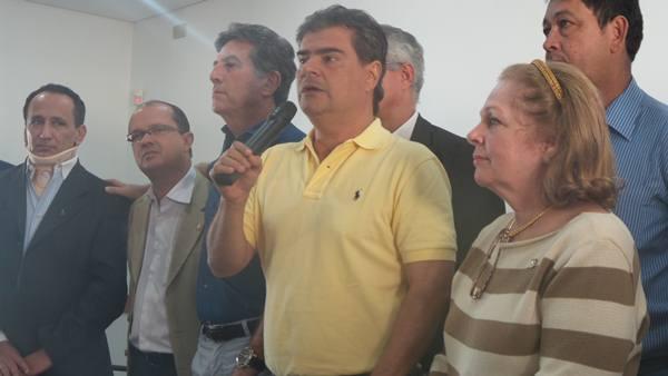 Convenção do PSB, Nelsinho Trad anuncia nome de vice-governadora<br />Foto: Dany Nascimento