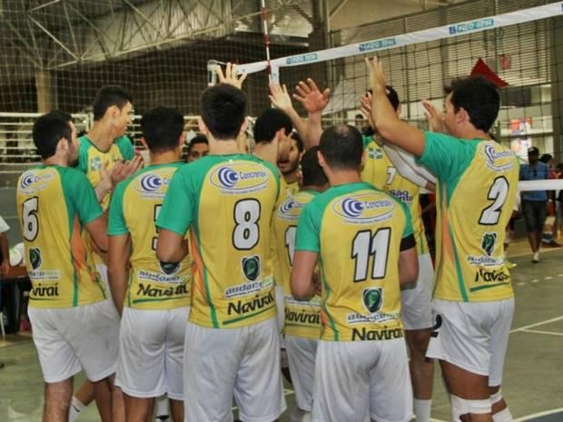 Equipe de voleibol conquistou título inédito para Naviraí<br />Foto – Assessoria de Imprensa