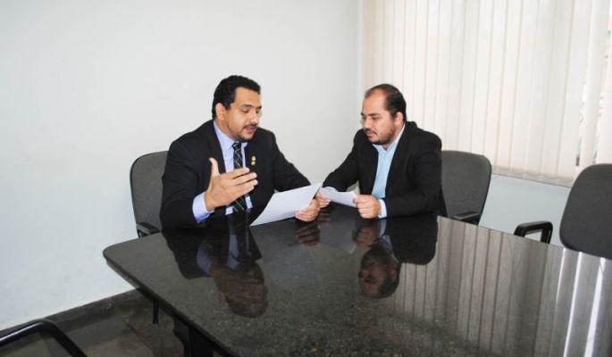 Vereadores Andrezão (PHS) e Marcelo Rosales (PDT)<br />Foto: Itaporã News