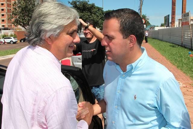 Senador Delcídio do Amaral e Ricardo Ayache ambos do PT