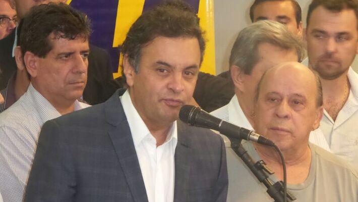 O pré-candidato à presidência da República, Aécio Neves explicou seu plano de governo durante o Pensando MS - Foto: Heloísa Lazarini