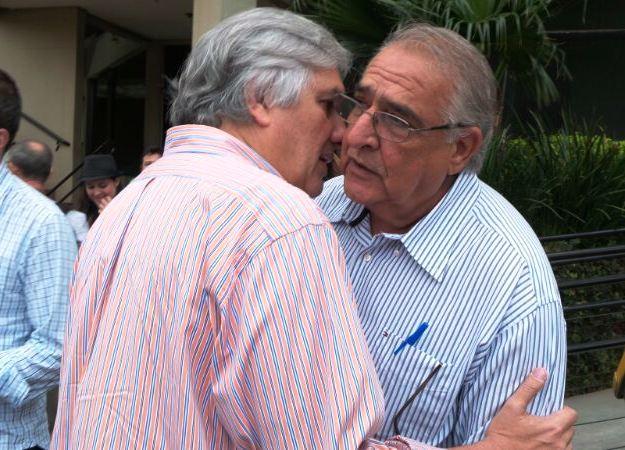 Pré-candidato do PT ao governo do Estado Delcídio do Amaral e deputado estadual Jerson Domingos (PMDB)