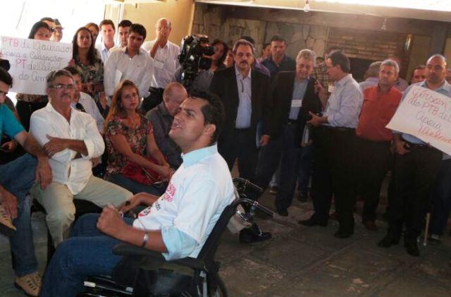 David Marques, pré-candidato a vice-governador ao lado de Anderson Monteiro<br />Foto: Dany Nascimento