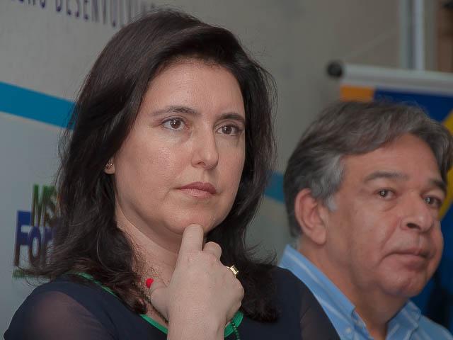 Vice-governadora e pré-candidata ao Senado, Simone Tebet (PMDB)<br />Foto: Arquivo
