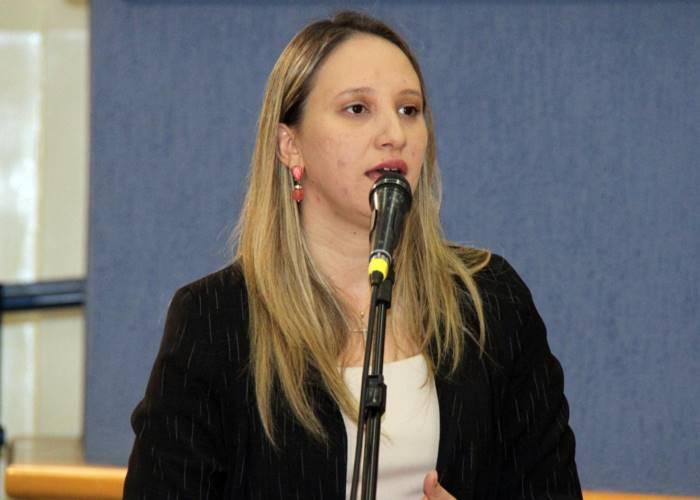 Vereadora de Campo Grande, Thaís Helena (PT)<br />Foto: Divulgação