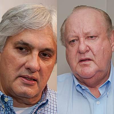 Pré-candidato do PT ao governo do Estado Delcídio do Amaral e presidente regional do PTB Ivan Lousada