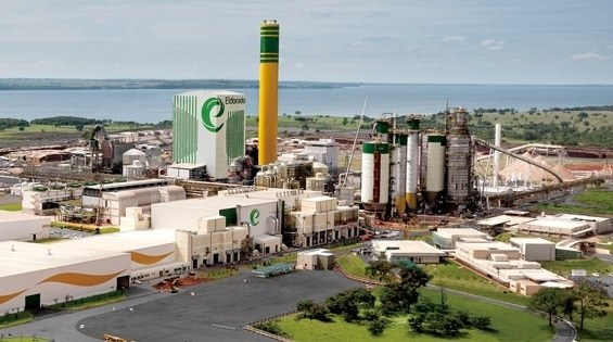 Fábrica de celulose Eldorado Brasil em Três Lagoas (MS)<br />Foto: Divulgação