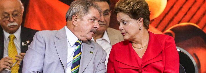 Ex-presidente Lula e presidente Dilma Rousseff (PT)