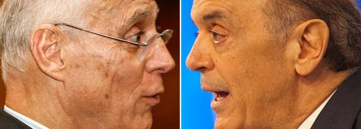 Pré-candidatos ao Senado, Eduardo Splicy (PT) e José Serra (PSDB)