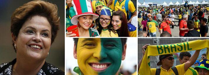 """</p> <p style=""""text-align: justify;""""><strong>SÃO PAULO (Reuters) -</strong>A organização da Copa do Mundo no Brasil está longe de ser perfeita, mas vem ocorrendo de forma muito mais tranquila do que muitos esperavam, aumentando as chances para a reeleiç"""
