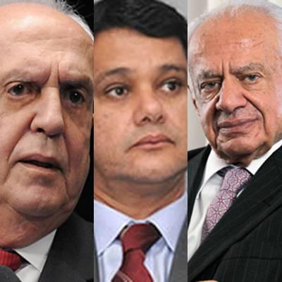 Senadores do PMDB: Jarbas Vasconcelos, Ricardo Ferraço e Pedro Simon