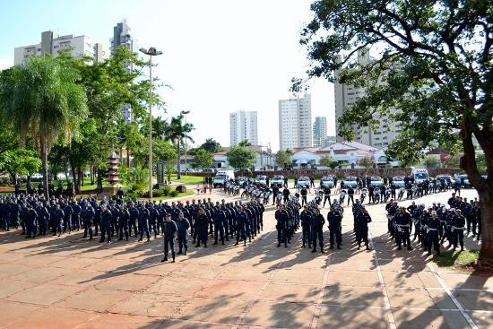 Tropa de policiamento<br />Foto: Assessoria