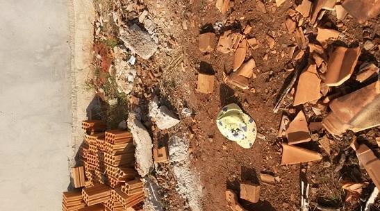 Local onde o corpo foi encontrado<br />Foto: Assessoria