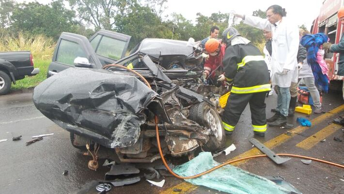 Acidente ocorrido na manhã de hoje na BR-163<br />Foto: Tayná Biazus