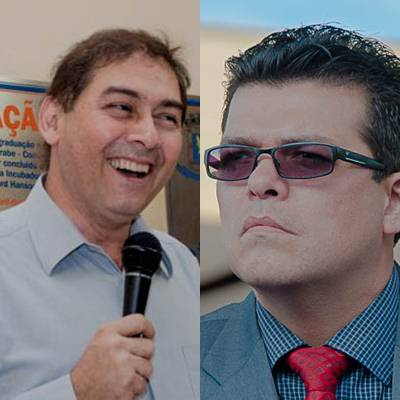 Ex-prefeito e presidente estadual do PP, Alcides Bernal e prefeito de Campo Grande, Gilmar Olarte<br />Foto: Arquivo