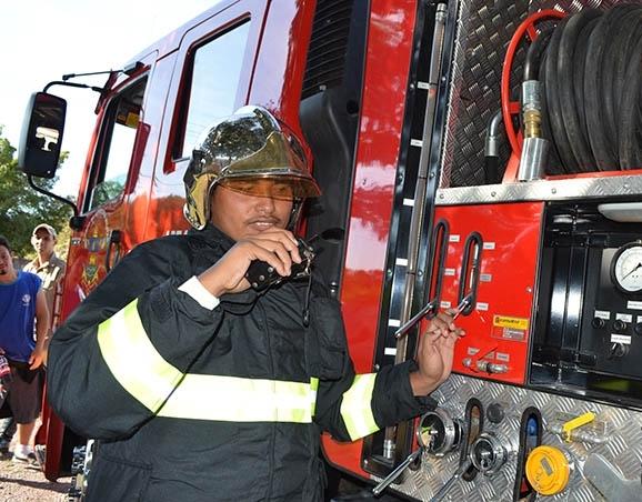 Desde criança, Pedro sonha em ser bombeiro<br />Foto: Diário Corumbaense