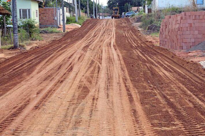 Ruas começam a ser revitalizadas em Coxim<br />Foto: Assessoria