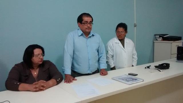 Reunião com os funcionários do Hospital Cassems e representante do Seta<br />Foto: Divulgação