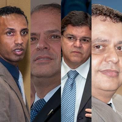 Vereadores que não serão mais candidatos: Coringa (PSD), Mário César (PMDB), Paulo Pedra (PDT) e Flávio Cézar (PTdoB)
