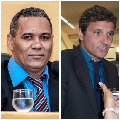 vereador Chiquinho Telles (PSD) e Eduardo Romero (PT do B)<br />Foto: Arquivo