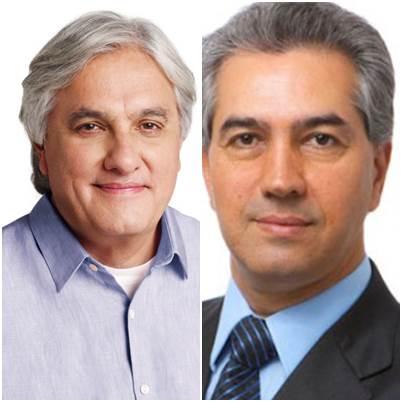 Candidatos ao governo do Estado, Delcídio do Amaral (PT) e Reinaldo Azambuja (PSDB)<br />Foto: Divulgação
