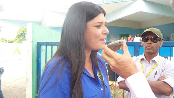 Vice do candidato ao governo do Estado Reinaldo Azambuja (PSDB), Professora Rose Modesto<br />Foto: Karla Machado