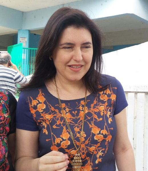 Vice governadora e senadora eleita, Simone Tebet (PMDB)<br />Foto: Karla Machado