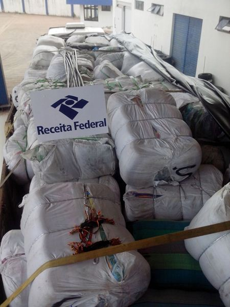 Mercadoria apreendida pela Receita Federal<br />Foto: Divulgação Receita Federal