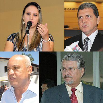 Vereadora Thaís Helena (PT), vereador João Rocha, (PSDB), Carlos A. Assis (PSDB) e vereador Zeca do PT<br />Foto: Divulgação