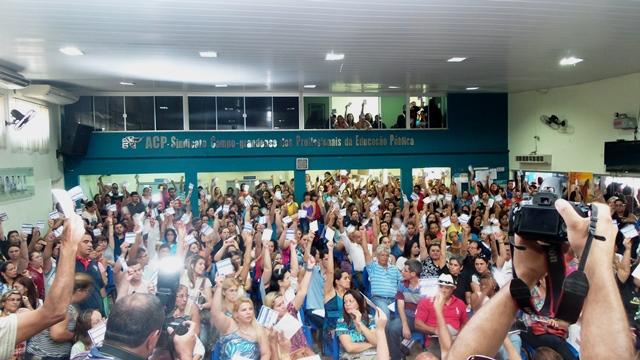 Professores decidem manter a greve e se reúnem novamente na segunda-feira<br />Foto: Arquivo