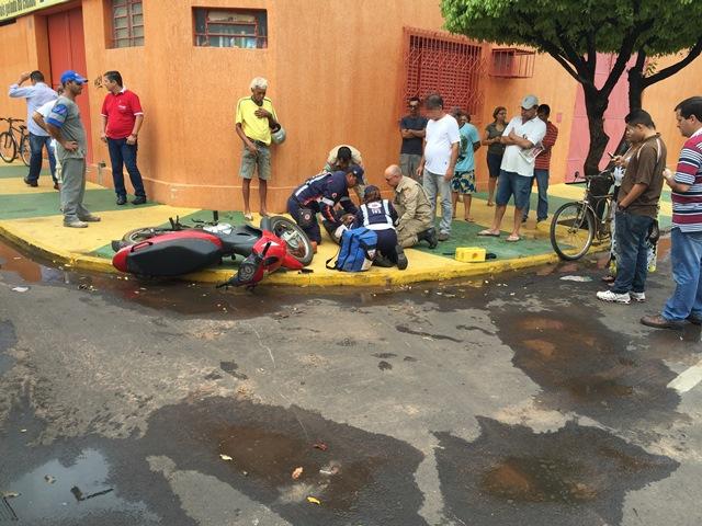 Acidente mobiliza SAMU, na Lapa, em Três Lagoas<br />Foto: Reprodução