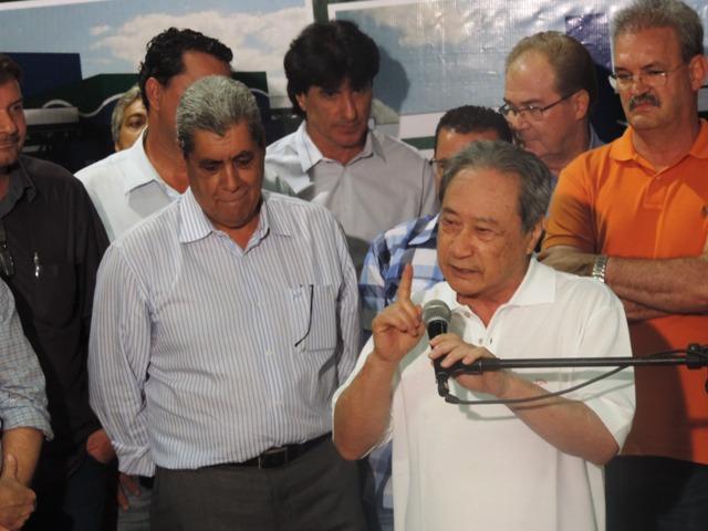 Deputado estadual George Takimoto (PDT) relembra trajetória do projeto de construção do Hospital Regional de Dourados<br />Foto: Edson Moraes