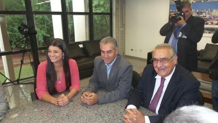 Rose Modesto, Reinaldo Azambuja e deputado estadual Jerson DOmingos<br />Foto: Heloísa Lazarini