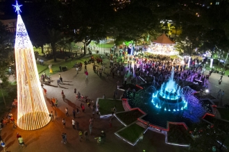Inauguração foi feita mesmo a prefeitura alegado que não tem dinheiro para várias pastas do executivo municipal<br />Foto:Marlon Ganassin