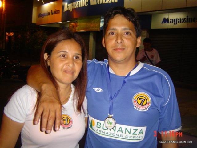 Alex foi o técnico em 2005, quando o Sete conquistou a Série B contra o Coxim<br />Foto: Gazeta MS/Arquivo