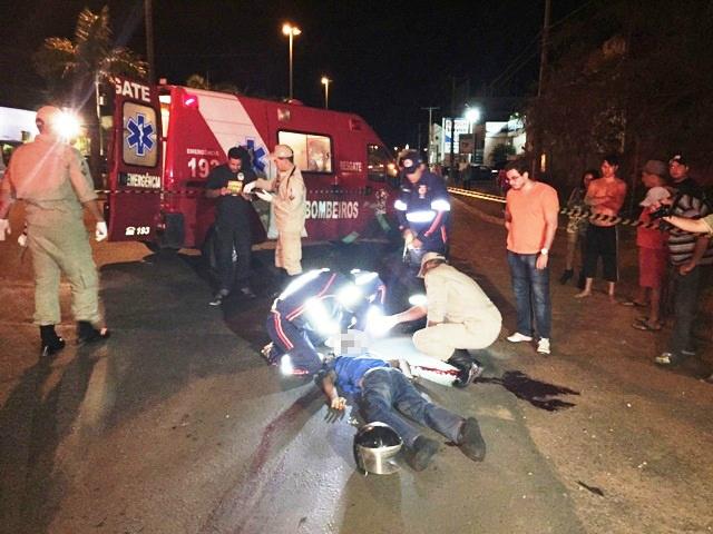 O acidente aconteceu na avenida Ranulpho marques Leal<br />Foto: Marco Campos/Perfil News