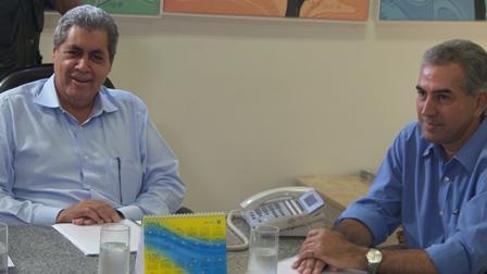 André e Reinaldo se reuniram pouco antes do anúncio da equipe de transição de Azambuja<br />Foto: Dany Nascimento