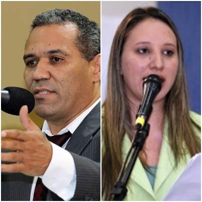 Vereadores Chiquinho Telles (PSD) e Thais Helena (PT)<br />Foto: Divulgação