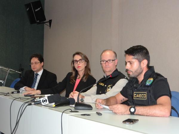 Coletiva sobre a operação dublê foi realizada nesta quinta-feira a tarde<br />Foto: Osvaldo Duarte/Dourados News