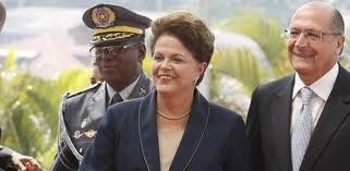 Dilma e Alckmin são alvos de protestos em São Paulo<br />Foto: Reprodução