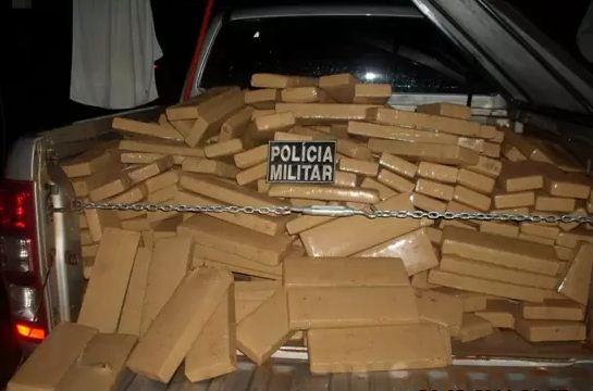 Droga apreendida em Ipezal<br />Foto: Divulgação PM