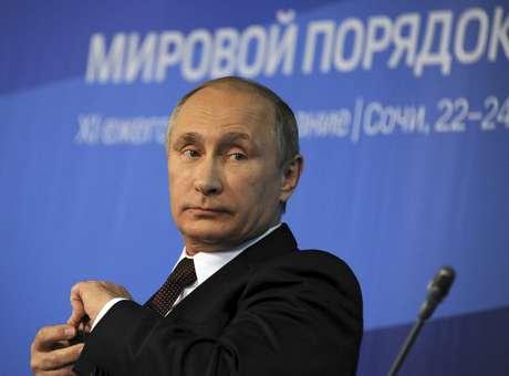 Putin aparece em primeiro lugar da lista da Forbes dos mais poderosos<br />Foto: Mikhail Klimentyev / Reuters