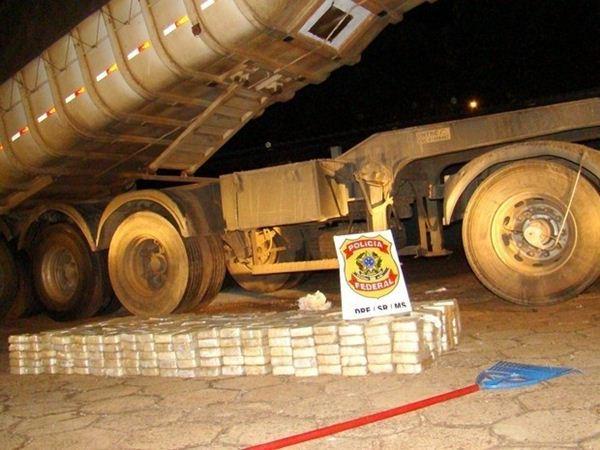 Caminhão foi apreendido durante operação<br />Foto: Polícia Federal/Divulgação