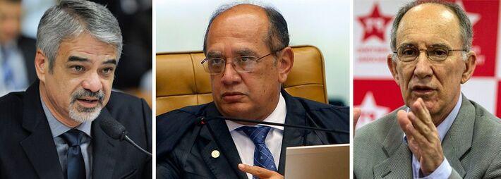 O líder do PT no Senado, Humberto Costa (PE) e ministro Gilmar Mendes<br />Foto: Divulgação