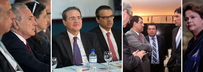 Lideranças do PMDB e a presidente reeleita Dilma Rousseff (PT)<br />Foto: Divulgação