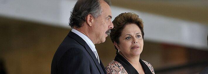 Ministro da Casa Civil Aloizio Mercadante e presidente Dilma Rousseff (PT)