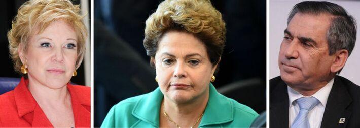 Presidente Dilma Rousseff (PT), ministra da Cultura, Marta Suplicy e secretário-geral da Presidência, Gilberto Carvalho<br />Foto: Divulgação