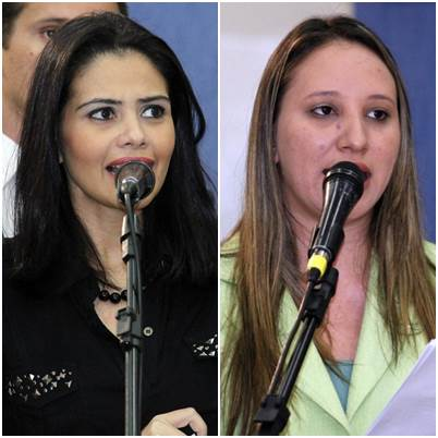 Vereadoras Grazielle Machado (PR) e Thais Helena (PT)<br />Foto: Divulgação